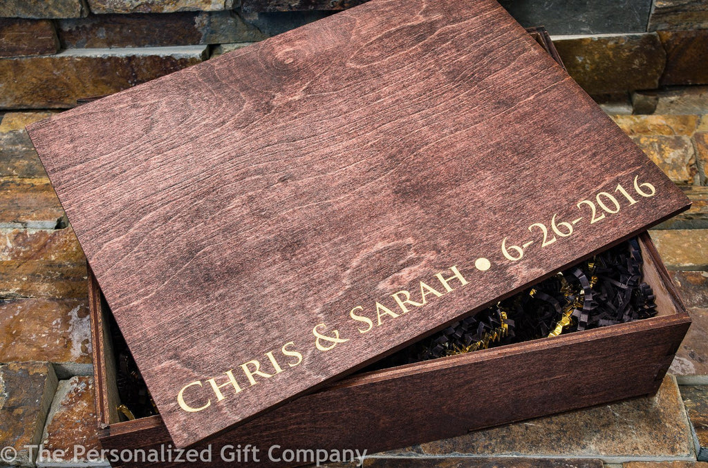Personalized Groomsmen Gift Box, Custom Engraved Wooden Cigar Gift Box
