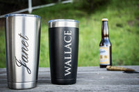 Personalized Tumbler, Groomsmen Gift, Travel Mug, Monogram Tumbler, Bridesmaid, 20 oz