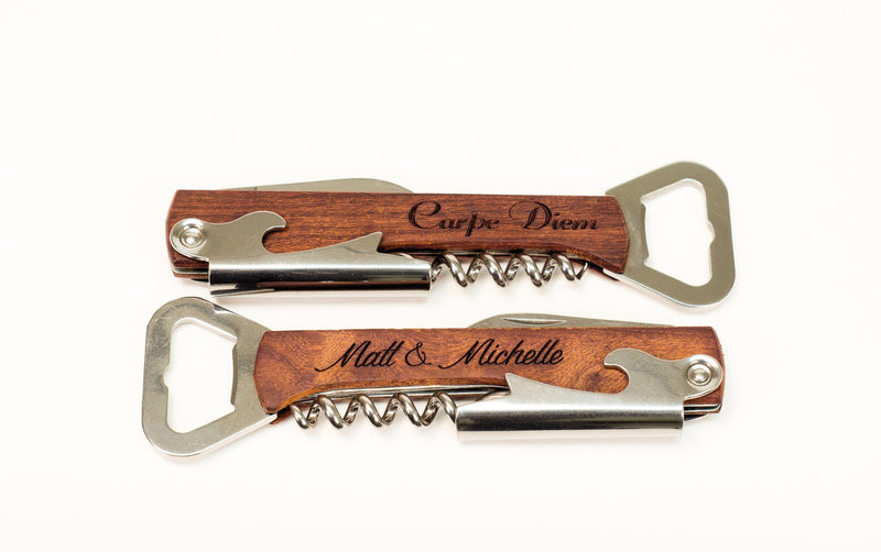 Custom Engraved Corkscrew, Bottle Opener & Wine Multi Tool - Great Wine Gift - The Personalized Gift Co. - Wine Gifts - 5