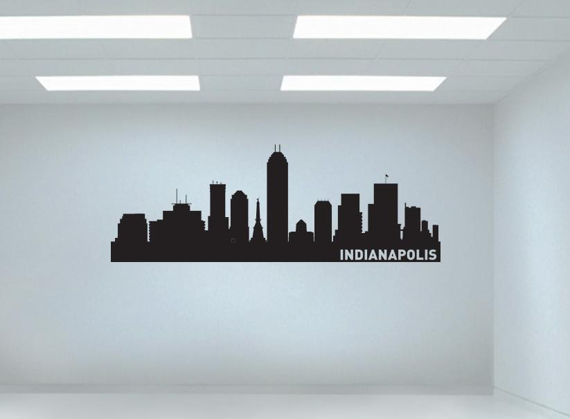 Indianapolis indiana skyline vinyl wall decal