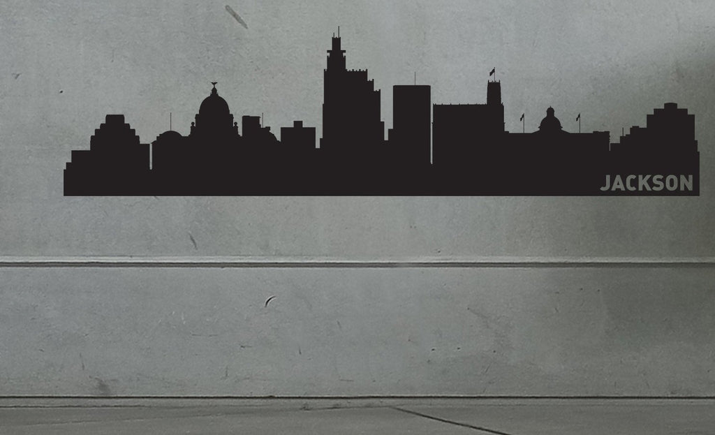 Jackson City Skyline Vinyl Wall Decal