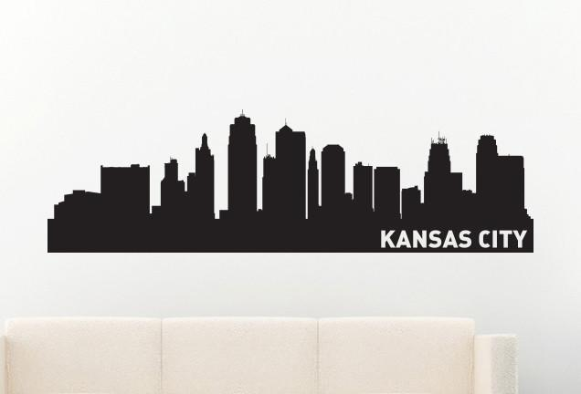 Kansas City Missouri Skyline Vinyl Wall Decal