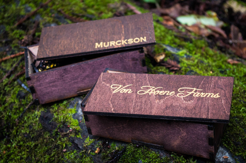 Personalized Wood Box, Custom Engraved Wooden Groomsman Gift Box, 2x2x6 in
