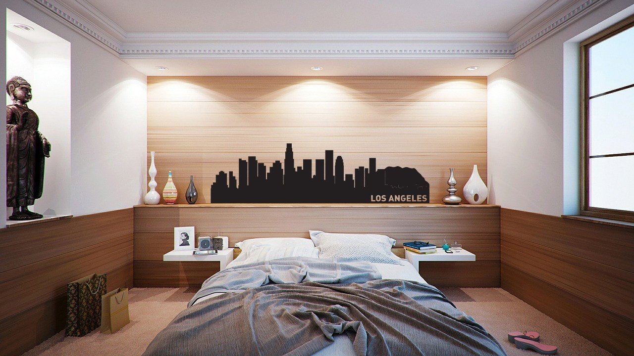 Los Angeles Skyline Vinyl Wall Decal The Personalized Gift Co - Custom vinyl decals los angeles