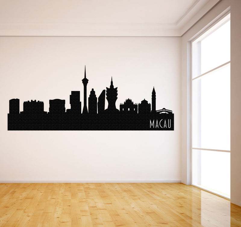 Macau China Skyline Vinyl Wall Decal