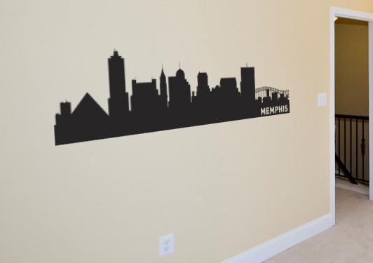 Memphis Tennessee Skyline Vinyl Wall Decal