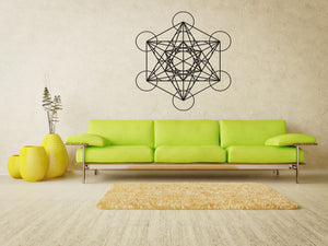 Metatron's Cube Vinyl Wall Decal - The Personalized Gift Co. - Decals, Stickers & Vinyl Art - 1