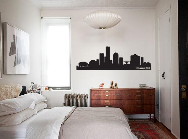 Milwaukee Wisconsin Skyline Vinyl Wall Decal