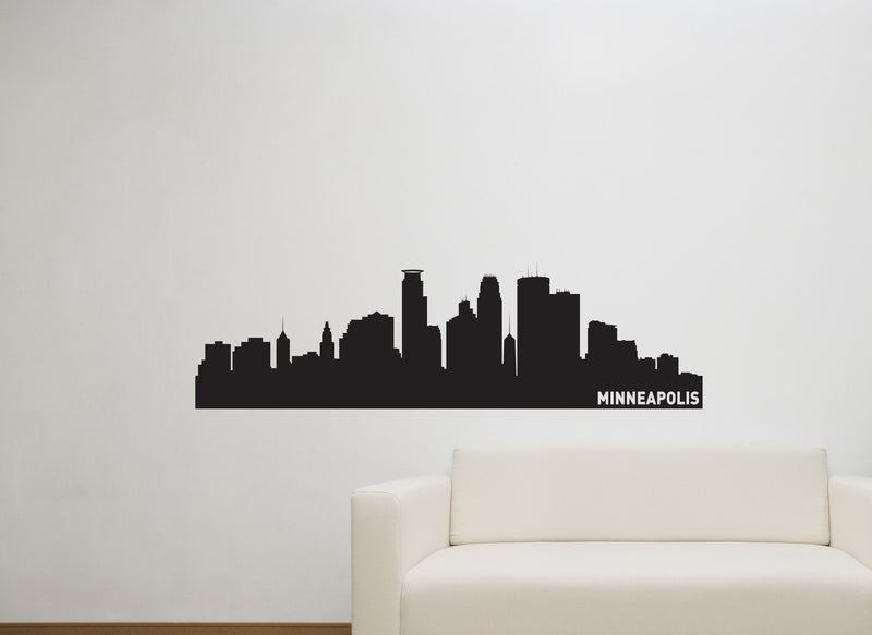 Minneapolis Minnesota Skyline Vinyl Wall Decal