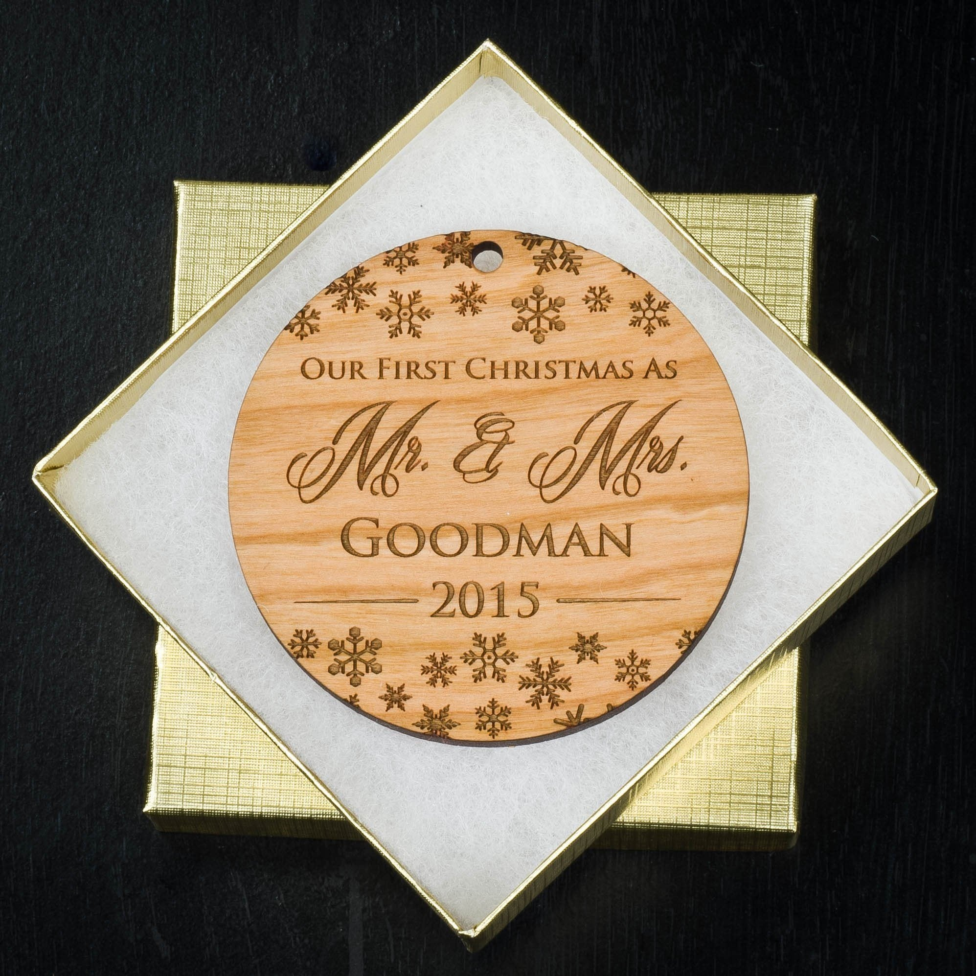 Our First Christmas Ornament  First Married Christmas Personalized Ornament   First Christmas Together Ornament  Custom Wood Ornament