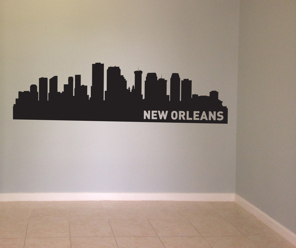 New Orleans Louisiana Skyline Vinyl Wall Decal