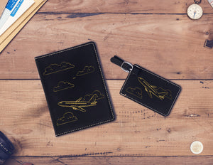 Matching Passport Holder/Luggage Tag Combo, Travel Gift, Engraved Passport Cover, Gift for Travel Lover, Graduation Gift, Going Away Present