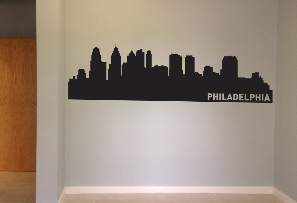 Philadelphia Pensylvania Skyline Vinyl Wall Decal