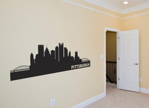 Pittsburgh Pensylvania Skyline Vinyl Wall Decal