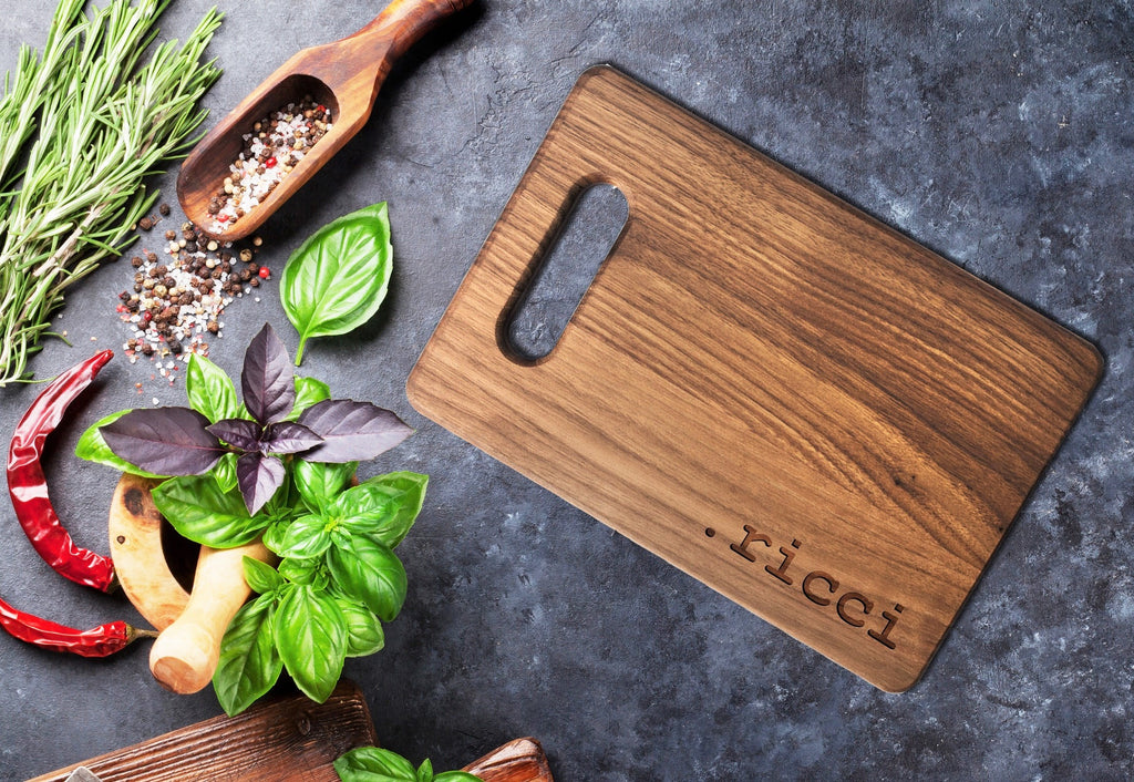 Personalized Wooden Cutting Board, Custom Engraved Wedding Gift for Couple
