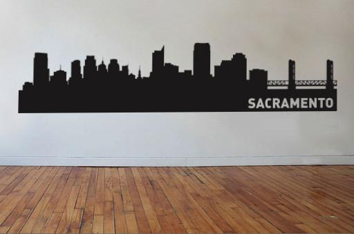 Sacramento California Skyline Vinyl Wall Decal