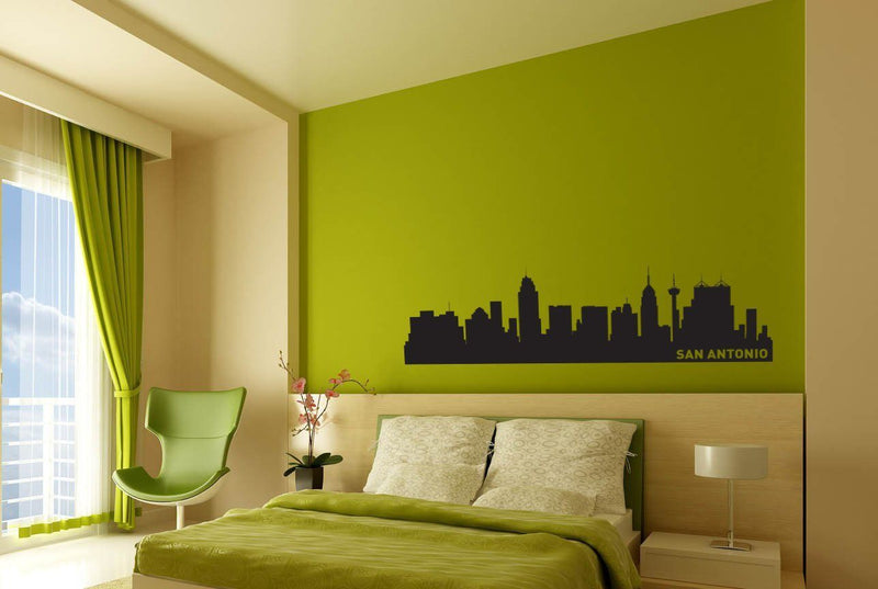 San Antonio Texas Skyline Vinyl Wall Decal