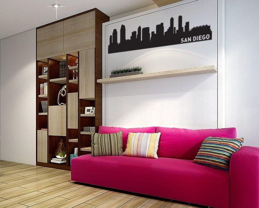 San Diego Skyline Vinyl Wall Decal - The Personalized Gift Co. - Decals, Stickers & Vinyl Art
