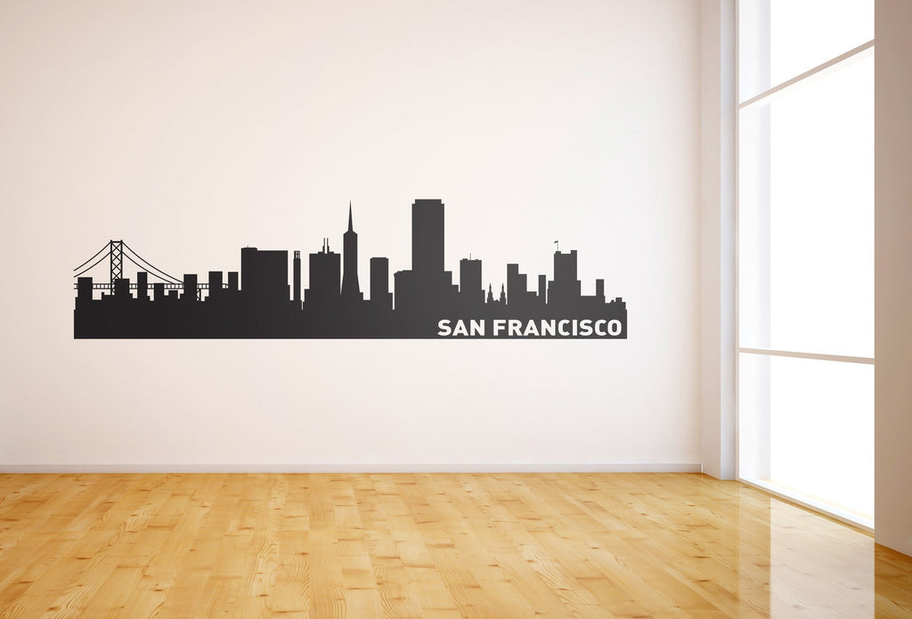 San Francisco Skyline Vinyl Wall Decal - The Personalized Gift Co. - Decals, Stickers & Vinyl Art