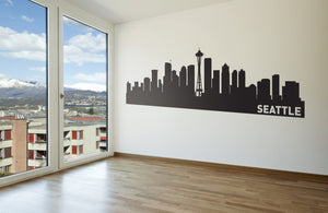 Seattle Skyline Vinyl Wall Decal - The Personalized Gift Co. - Decals, Stickers & Vinyl Art