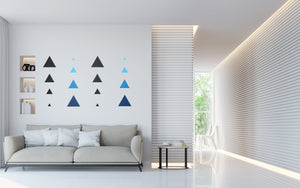 DIY TRIANGLE WALL DECALS - VINYL DECAL HOME DECOR - GOLD WALL STICKERS - REMOVABLE PEEL AND STICK TRIANGLE