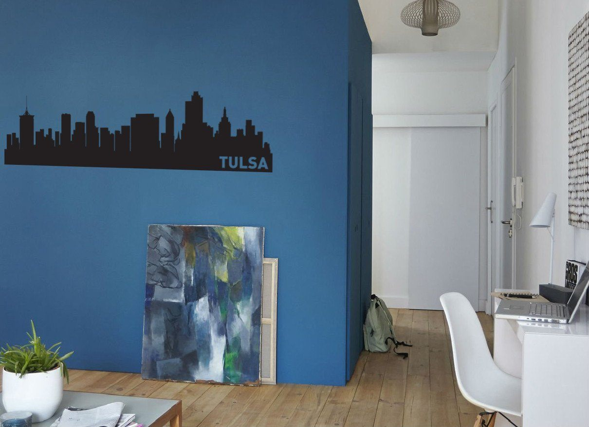 Tulsa oklahoma skyline vinyl wall decal the personalized