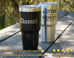 Personalized Tumbler, Groomsmen Gift, Travel Mug, Monogram Tumbler, Bridesmaid, 30 oz