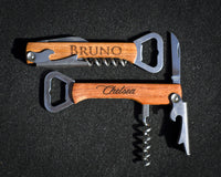Custom Engraved Corkscrew, Bottle Opener & Wine Multi Tool - Great Wine Gift - The Personalized Gift Co. - Wine Gifts - 4