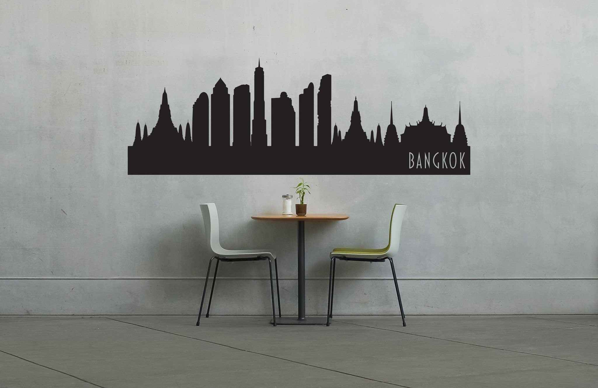 Bangkok thailand skyline vinyl wall decal the personalized gift co