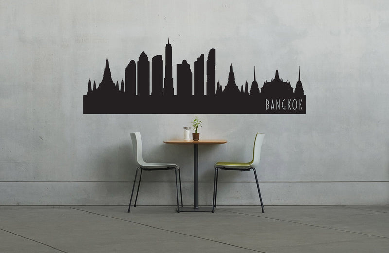 Bangkok Thailand Skyline Vinyl Wall Decal