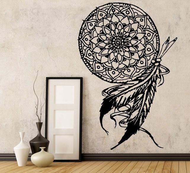 dream catcher vinyl wall decal - the personalized gift co.