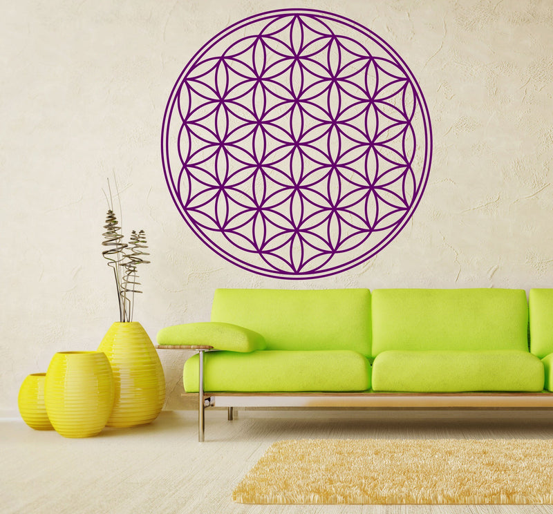 Flower of Life - Sacred Geometry Vinyl Wall Decal - The Personalized Gift Co. - Decals, Stickers & Vinyl Art - 4