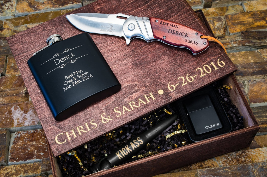 6e7fca310729b Groomsman Gifts, Personalized Best Man Gifts - The Personalized Gift Co.