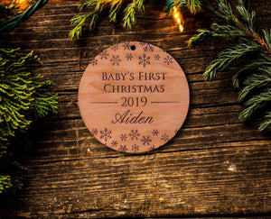 Personalized Baby's First Christmas Ornament 2019 - Custom Engraved My First Christmas / Girl or Boy 1st Christmas
