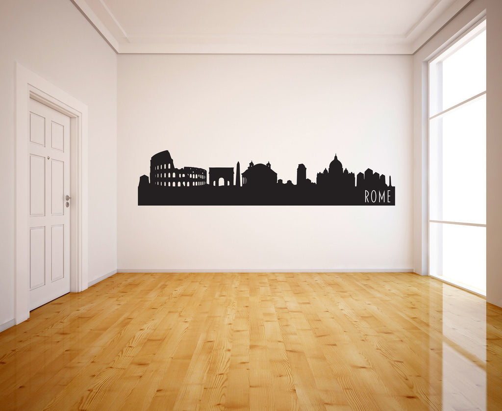 Rome Italy Skyline Vinyl Wall Decal