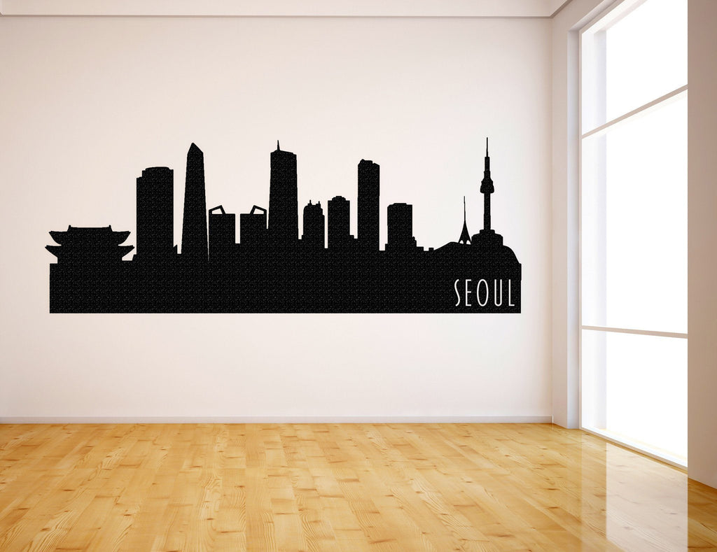 Seoul South Korea Skyline Vinyl Wall Decal