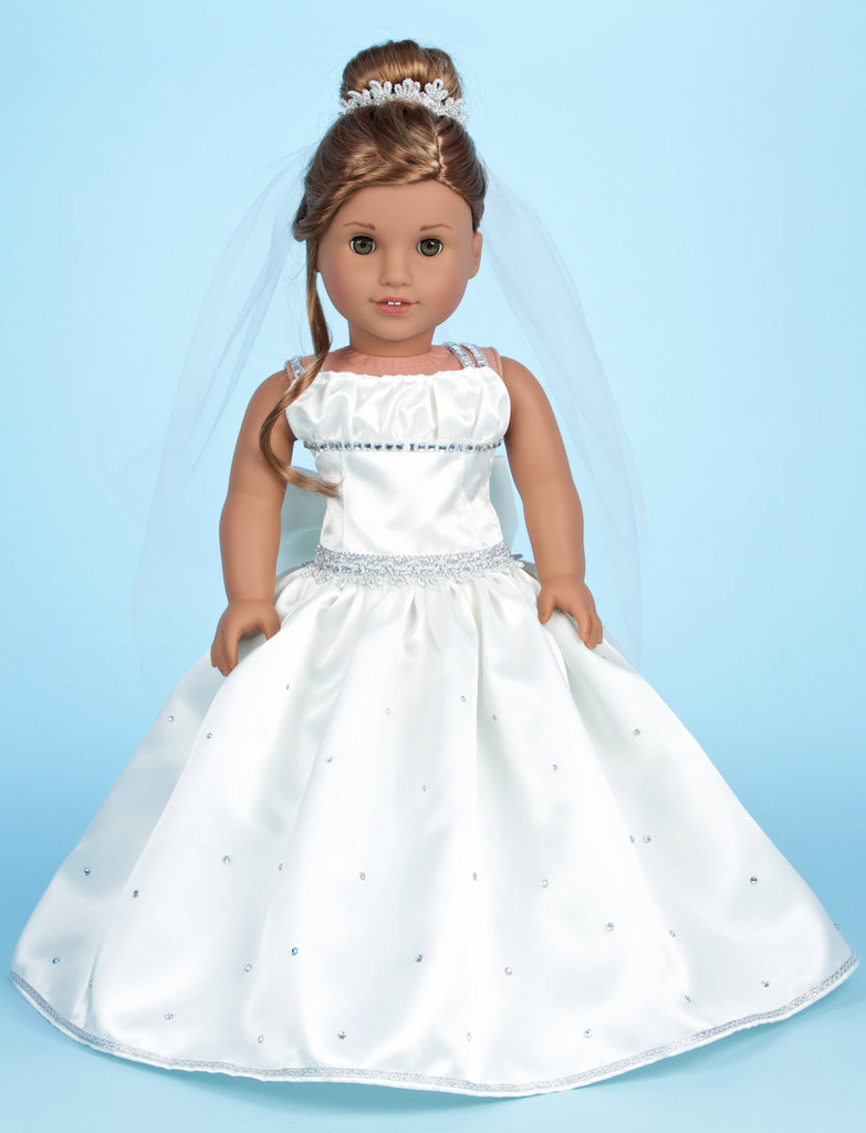 Custom Made Communion / Wedding Gown - Doll Clothes for 18 inch American Girl Doll