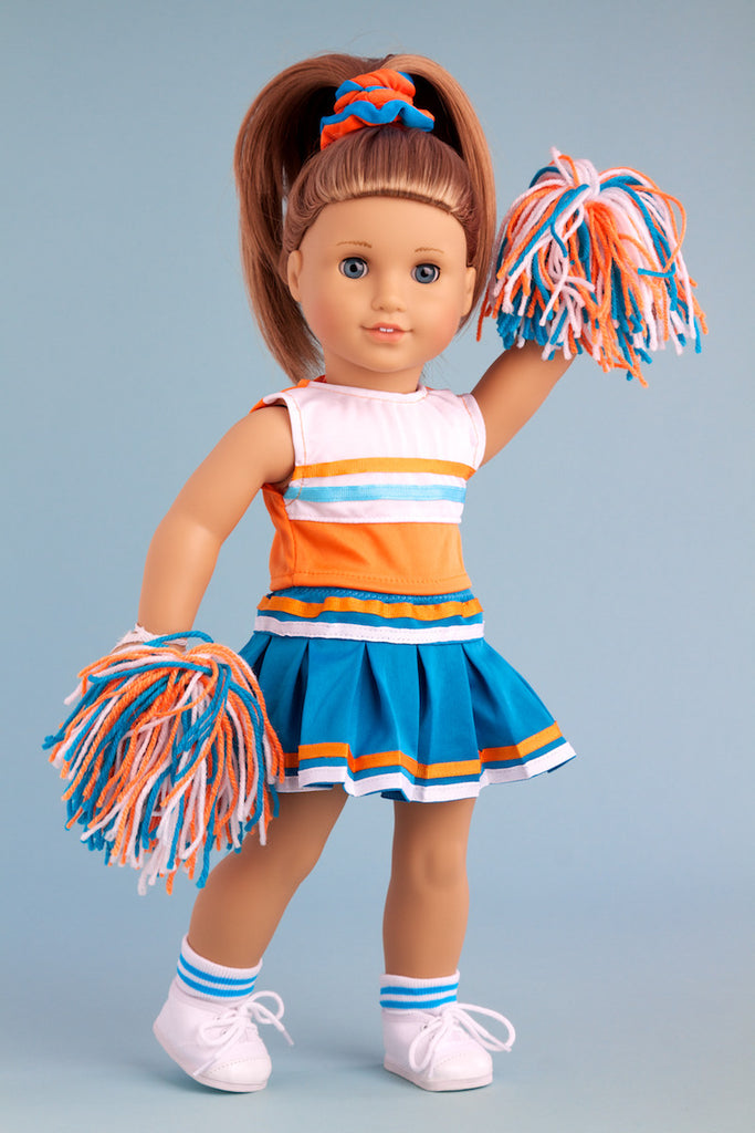 b22c9ca2ea09 ... Cheerleader - Clothes for 18 inch Doll - 6 Piece Outfit - Blouse