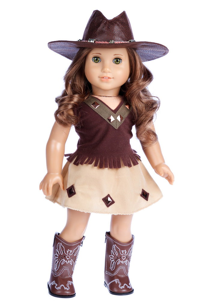 Cowgirl Clothes For 18 Inch American Girl Doll Hat