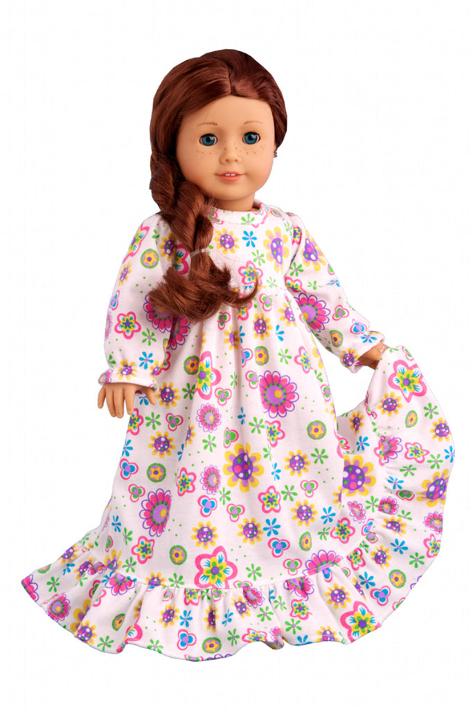 66482871f96 Good Night - Pajamas for 18 inch American Girl Doll - Nightgown ...
