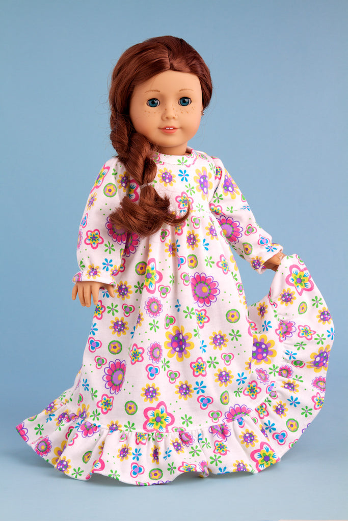 Good Night - Clothes for 18 inch Doll - Cotton Nightgown