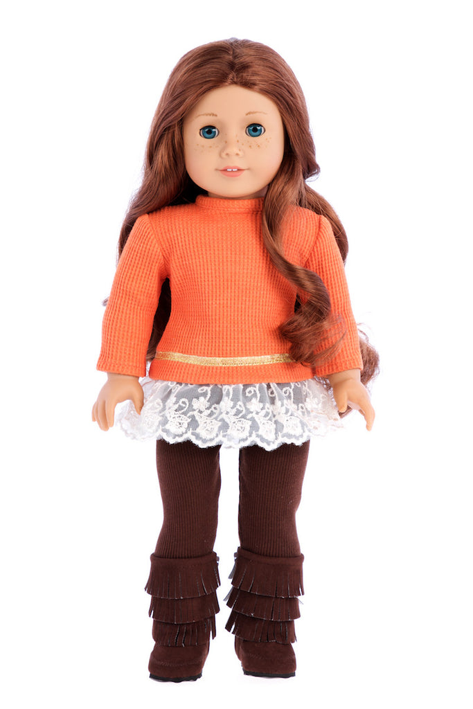 Hello Sunshine - 18 inch Doll Clothes - 3 Piece Doll Outfit - Tunic, Leggings and Boots