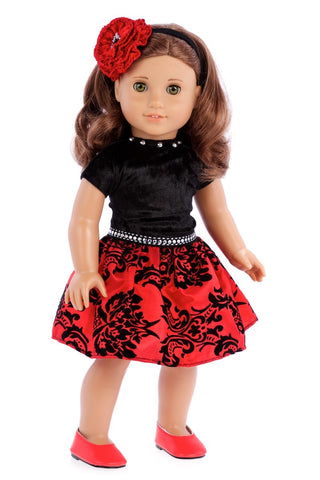 Saturday Afternoon - Clothes for 18 inch Doll - Navy Blue Dress (Shoes sold separately)