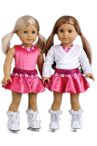 Cheerleader - Clothes for 18 inch Doll - 6 Piece Outfit - Blouse, Skirt, Headband, Pompons, Socks and Shoes