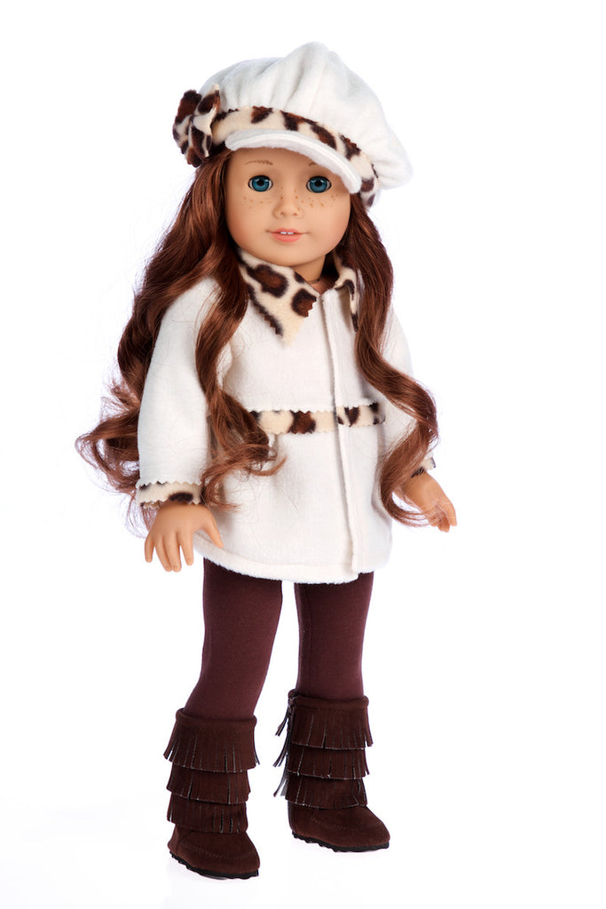 Marshmallow - 18 inch Doll Clothes - 4 Piece Doll Outfit - Coat, Hat, Leggings and Boots
