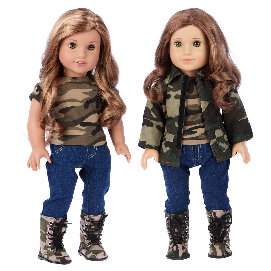 Military Style Doll Outfit - 18 inch Doll Clothes