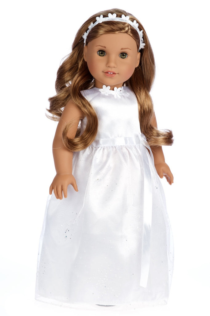 My first communion wedding clothes for 18 inch for American girl wedding dress