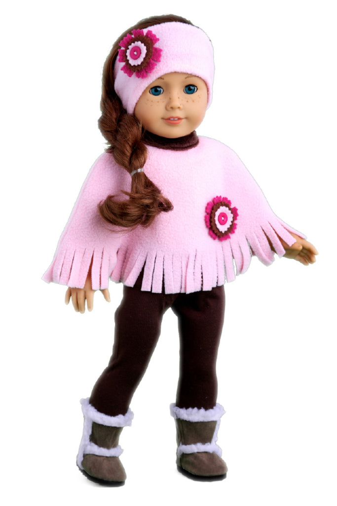 Pink Poncho Doll Clothes