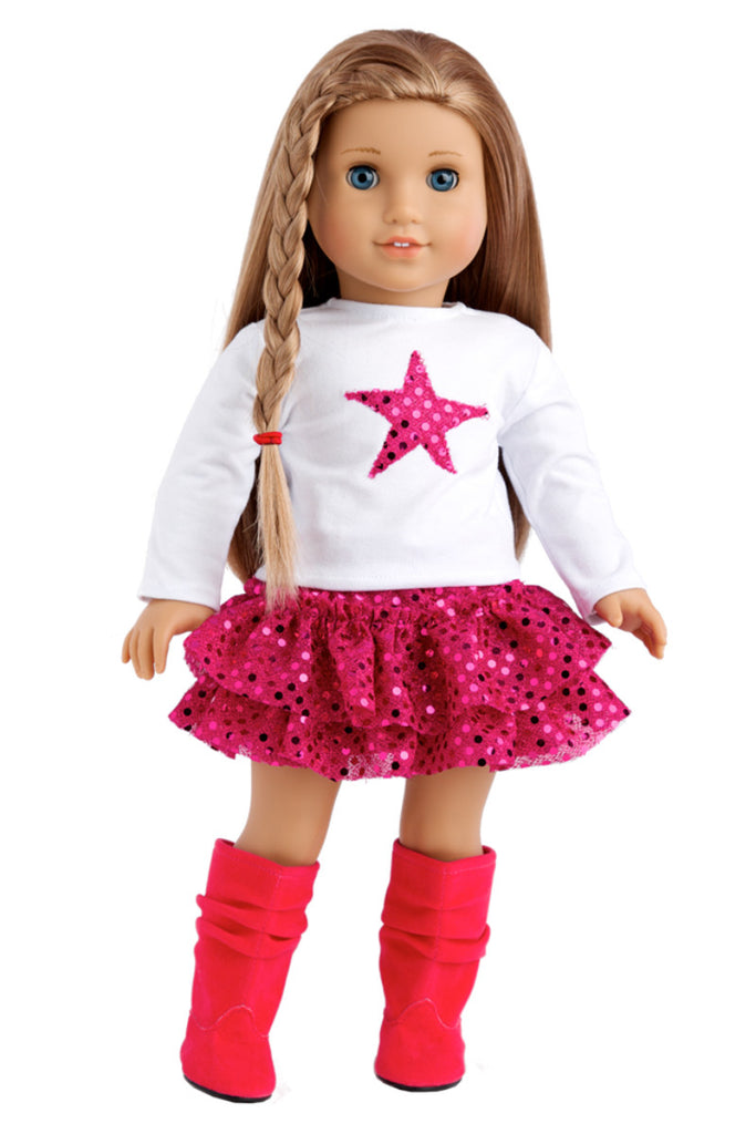 8ad6d32c2b95 Pink Star - Clothes for 18 inch American Girl Doll - Blouse