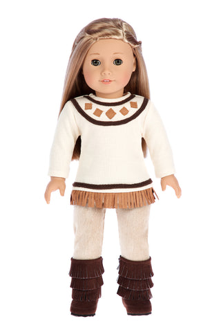 0b9904c1b Pocahontas - Doll Clothes for 18 inch Dolls - 3 Piece Doll Outfit - Ivory  Tunic, Corduroy Pants and Brown Boots. $ 23.97. Black Swan - Ballerina ...